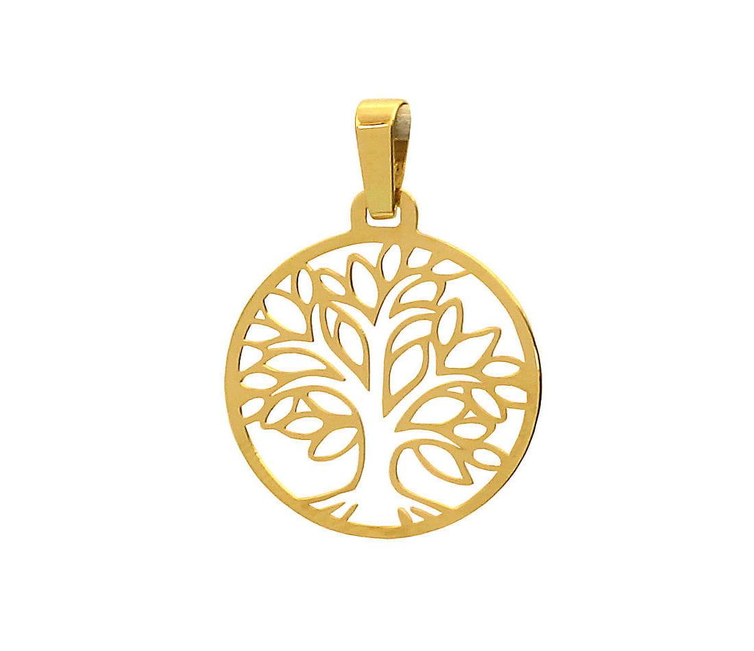 Wisiorek złoty Drzewo Życia - zawieszka na łańcuszek
