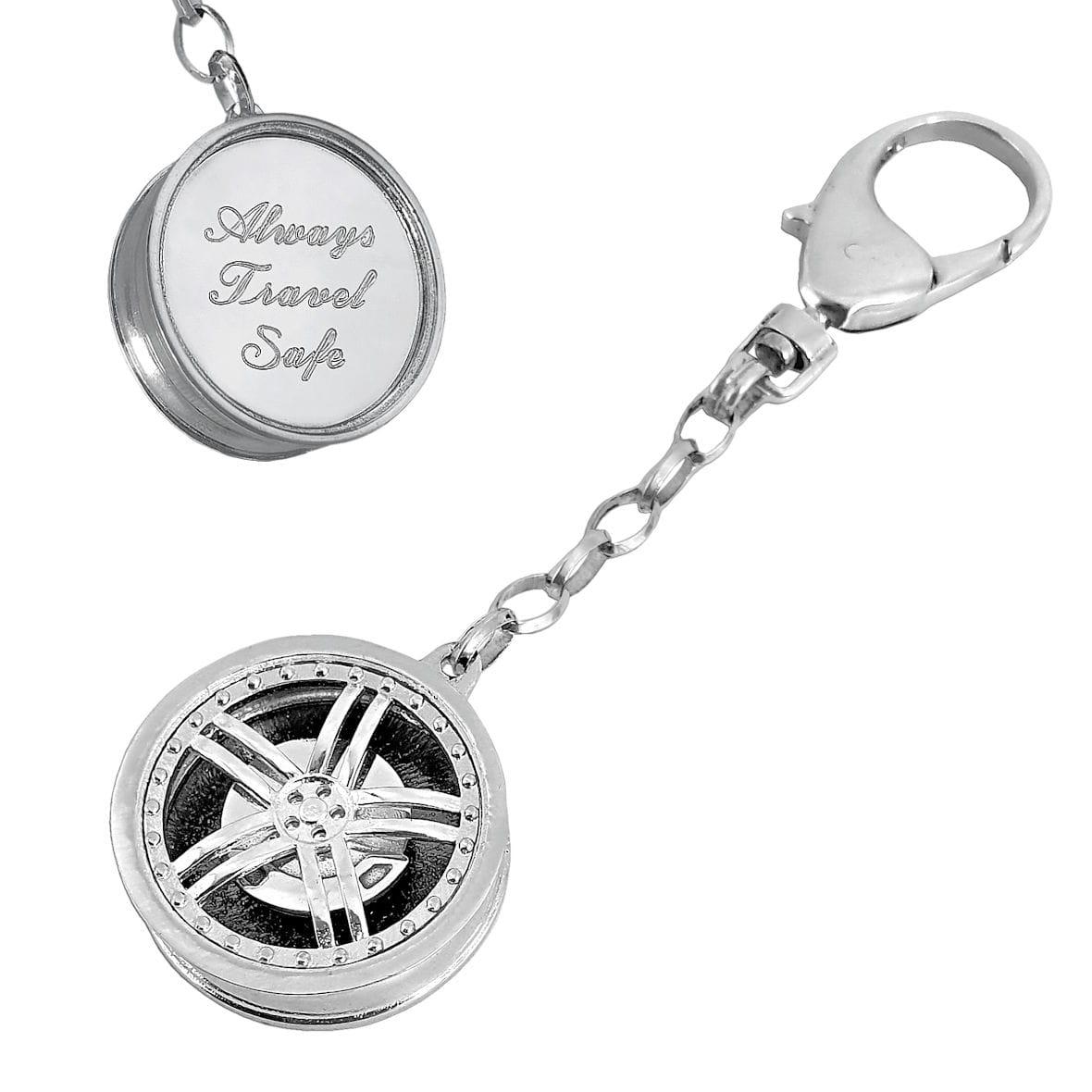 Brelok do kluczy srebrna Felga z grawerunkiem